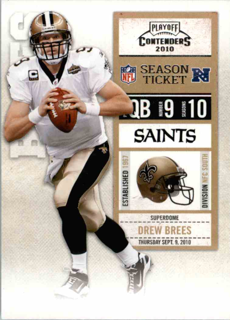 2010 Playoff Contenders Drew Brees #60 card front image