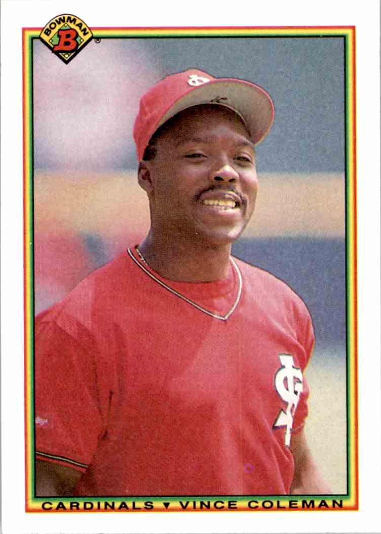 1990 Bowman Vince Coleman 198 On Kronozio