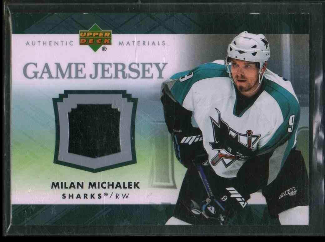 2007-08 Upper Deck Milan Michalek #J-MI card front image