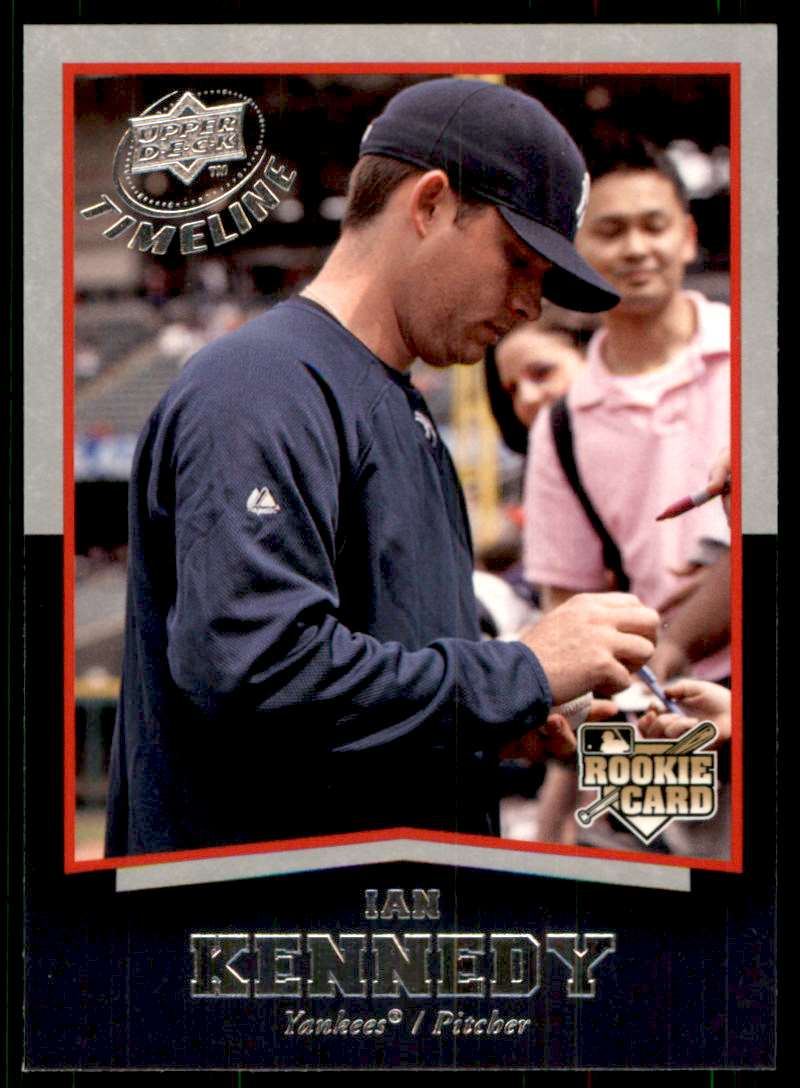 2008 Upper Deck Timeline Ian Kennedy RC #62 card front image