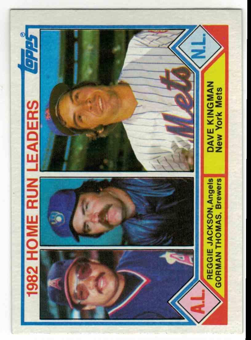 1983 Topps Home Run Leaders Jackson/Thomas/Kingman #702 card front image