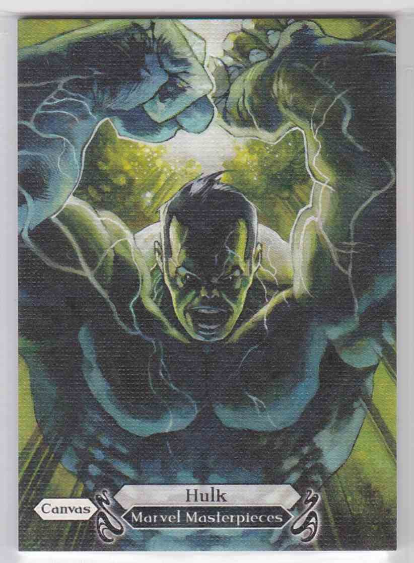 2018 Marvel Masterpieces Canvas Gallery Hulk #95 card front image