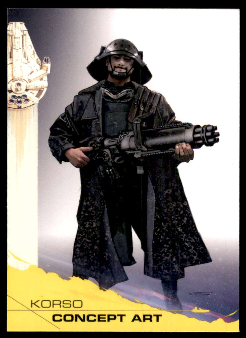 2018 Solo A Star Wars Story Yellow Korso Concept Art #100 card front image