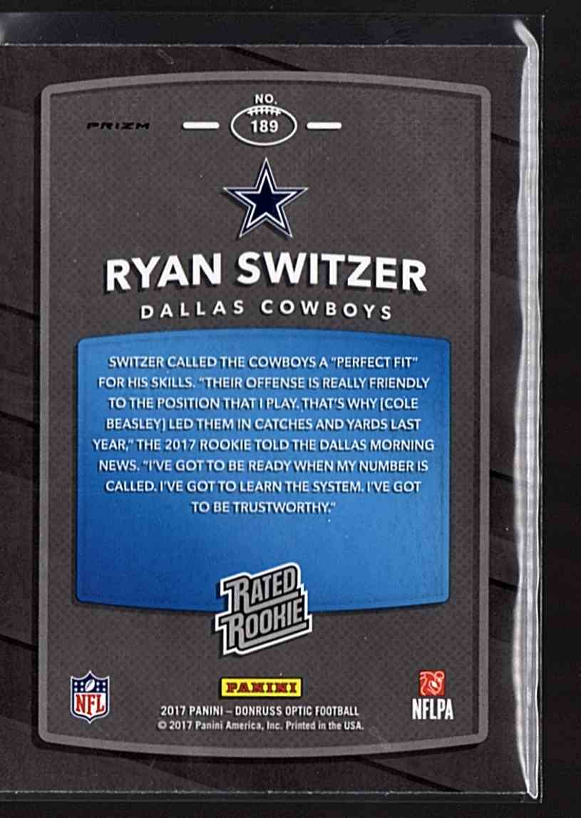 2017 Donruss Optic Pink Ryan Switzer Rr #189 card back image