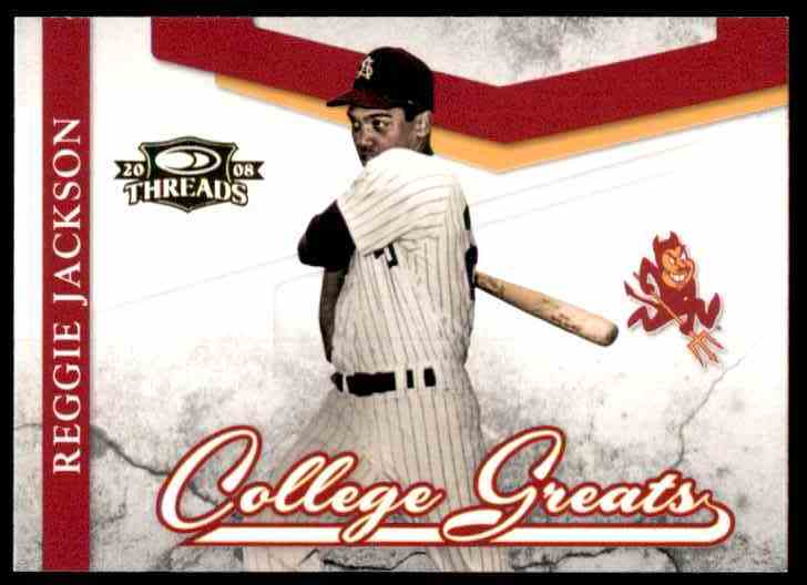 2008 Donruss Threads College Greats Reggie Jackson #CG2 card front image