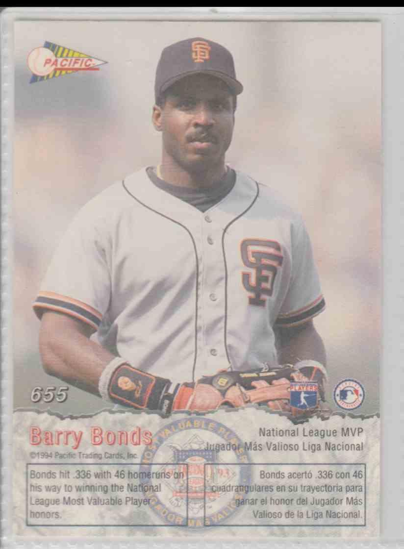 1993 Pacific Barry Bonds 655 On Kronozio