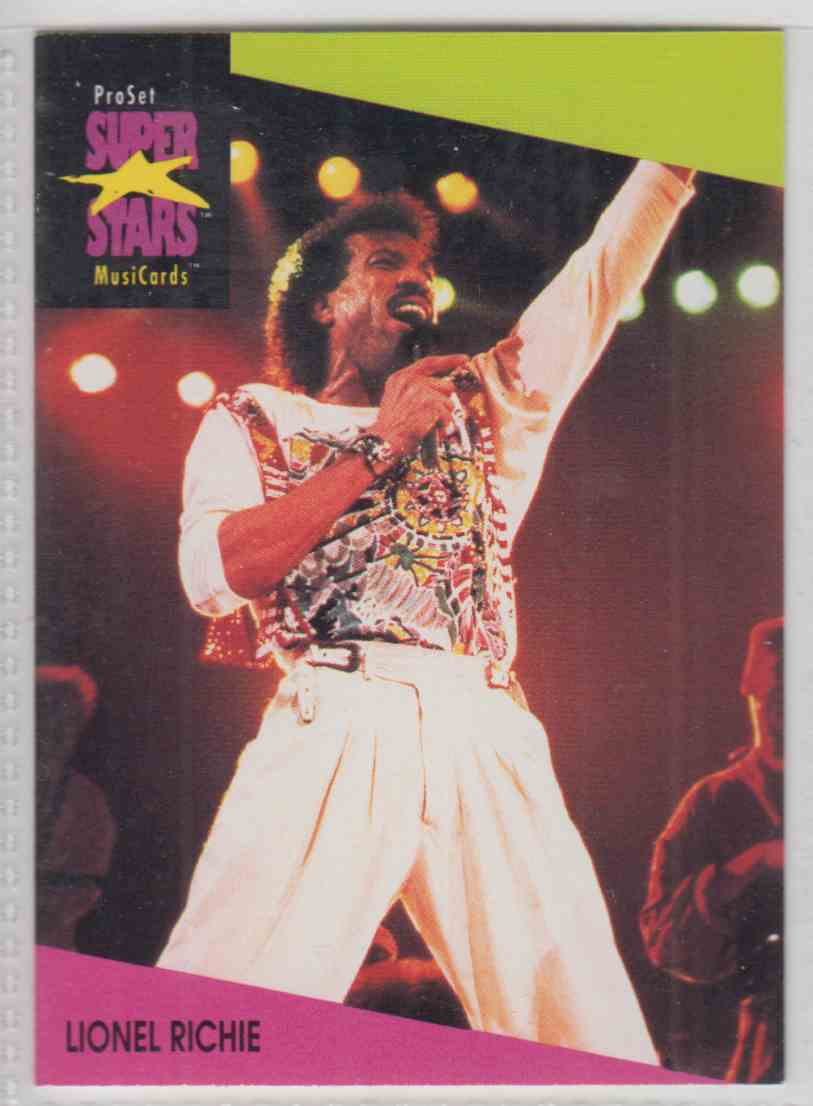 1991 Pro Set SuperStars MusiCards Lionel Richie #91 card front image