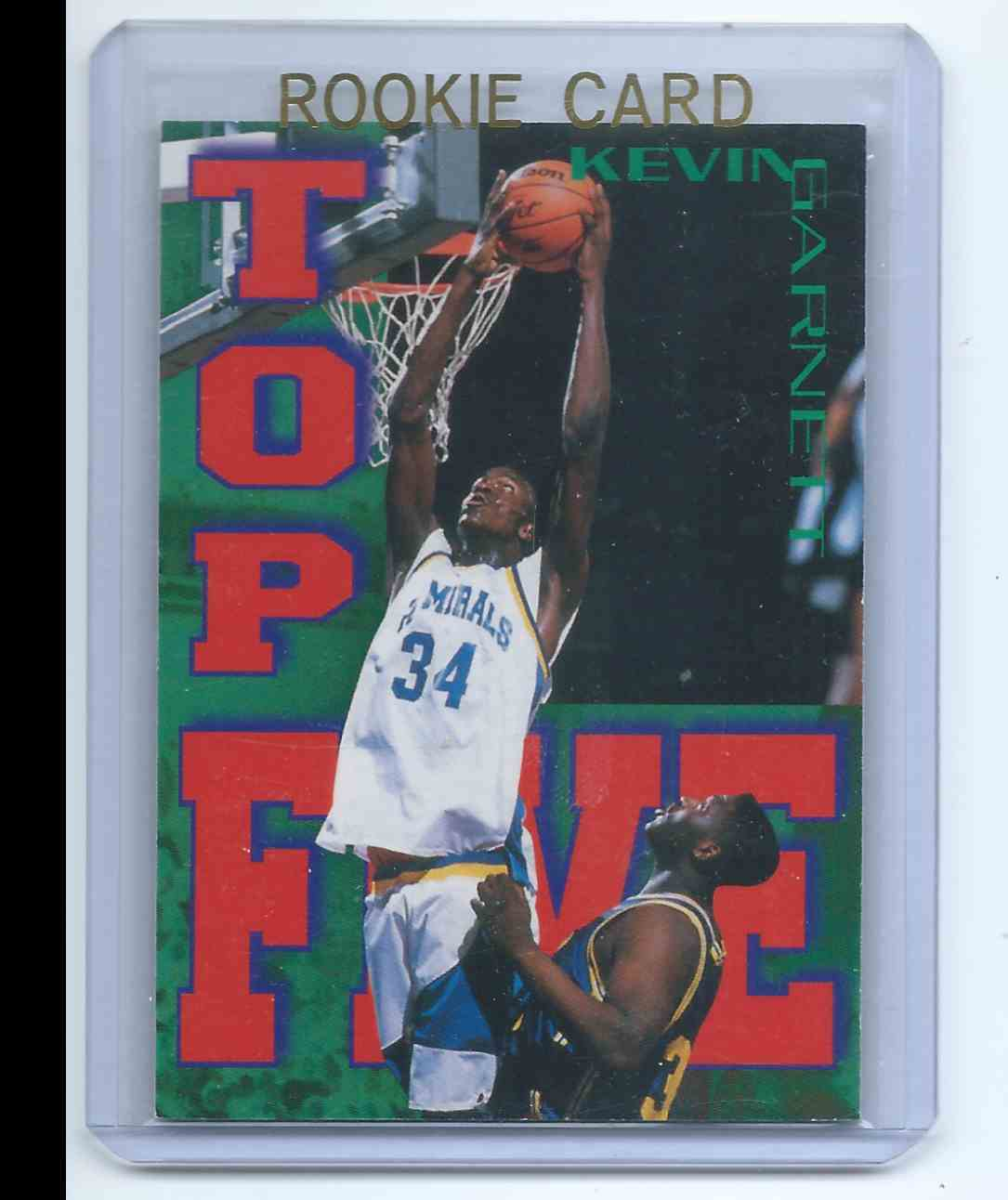 1995-96 Sports Heroes Signature Rookies Fame & Fortune - Top Five Kevin Garnett (Rc) Rookie Card #T5 card front image