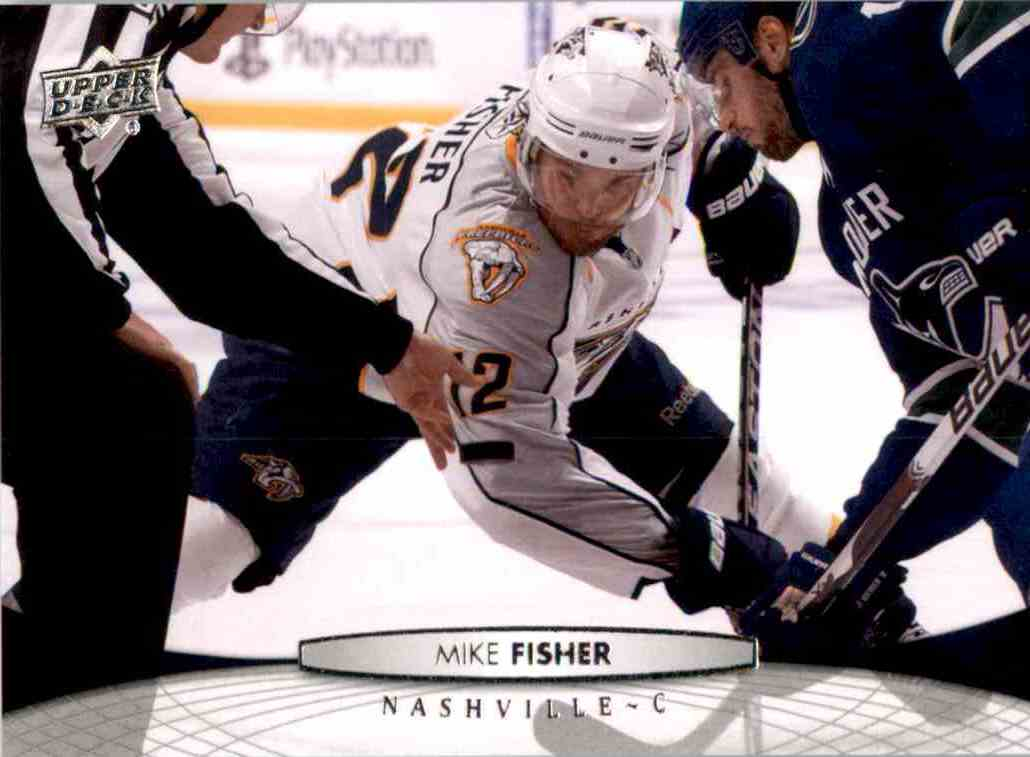 2011-12 Upper Deck Mike Fisher #98 card front image