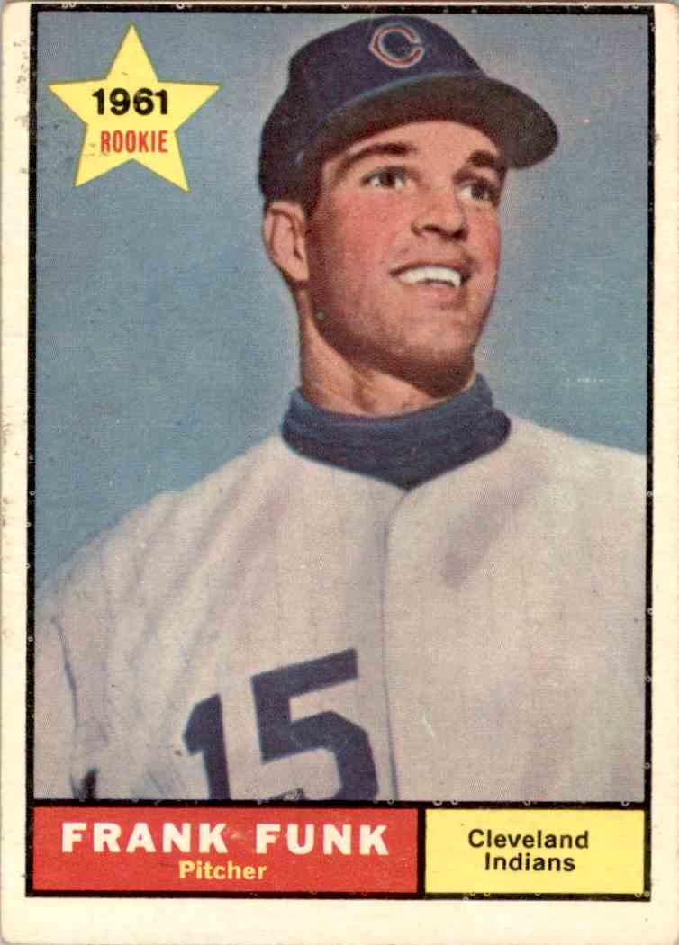 1961 Topps Frank Funk #362 card front image