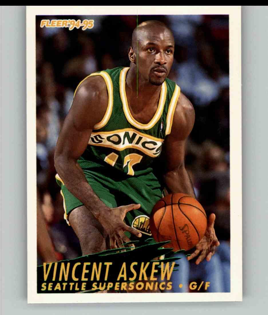 1994-95 Fleer Vincent Askew #210 card front image