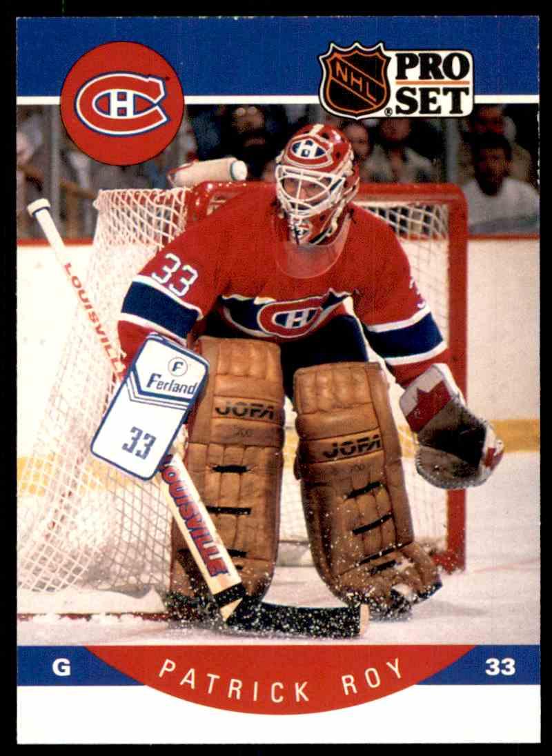 1990-91 Pro Set Patrick Roy #157 card front image