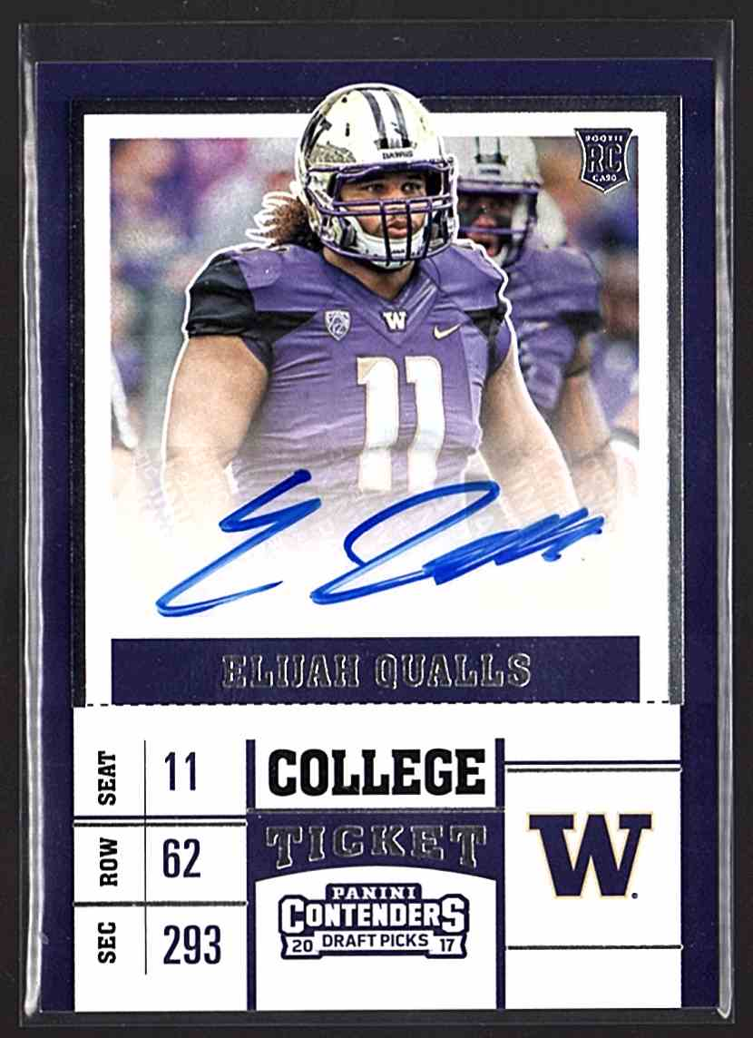 2017 Panini Contenders Draft Picks Elijah Qualls #236 card front image