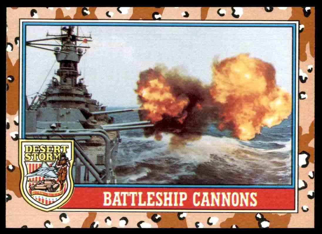 1991 Desert Storm Topps Battleship Cannons #102 card front image