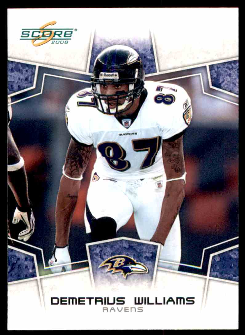 2008 Score Demetrius Williams #25 card front image