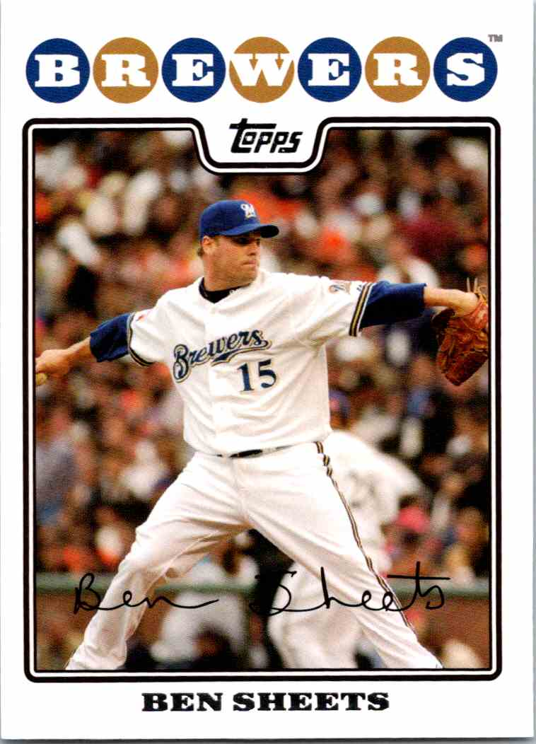 2008 Topps Ben Sheets #160 card front image
