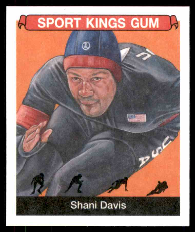 2018 Sportkings Black Back Retail Mini Shani Davis #21 card front image