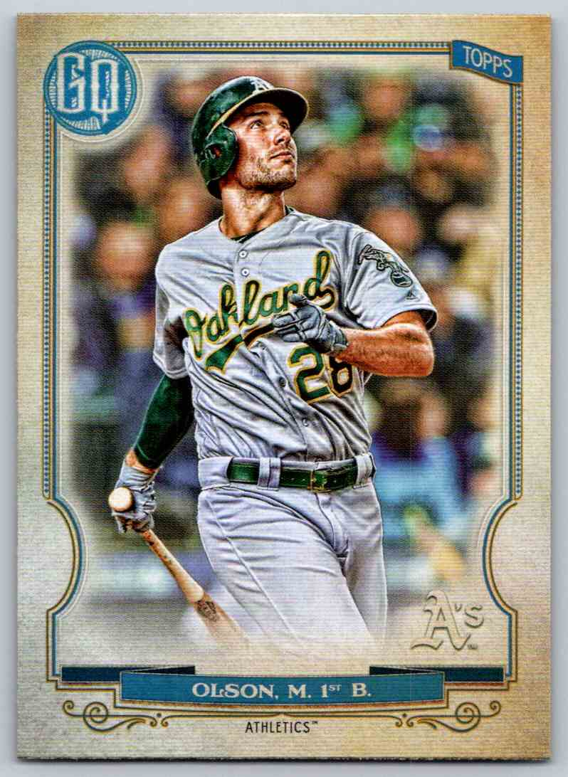 2020 Topps Gypsy Queen Base Matt Olson #4 card front image