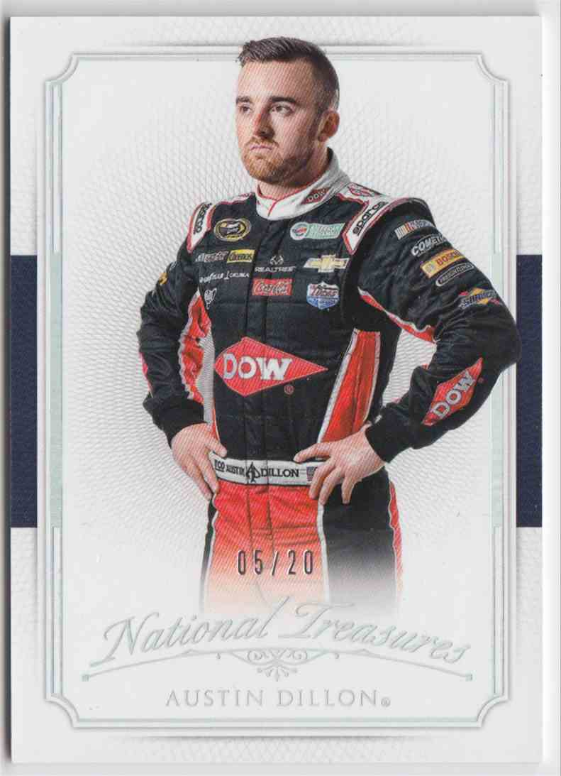 2016 Panini National Treasures Base Century Silver Austin Dillon #25 card front image