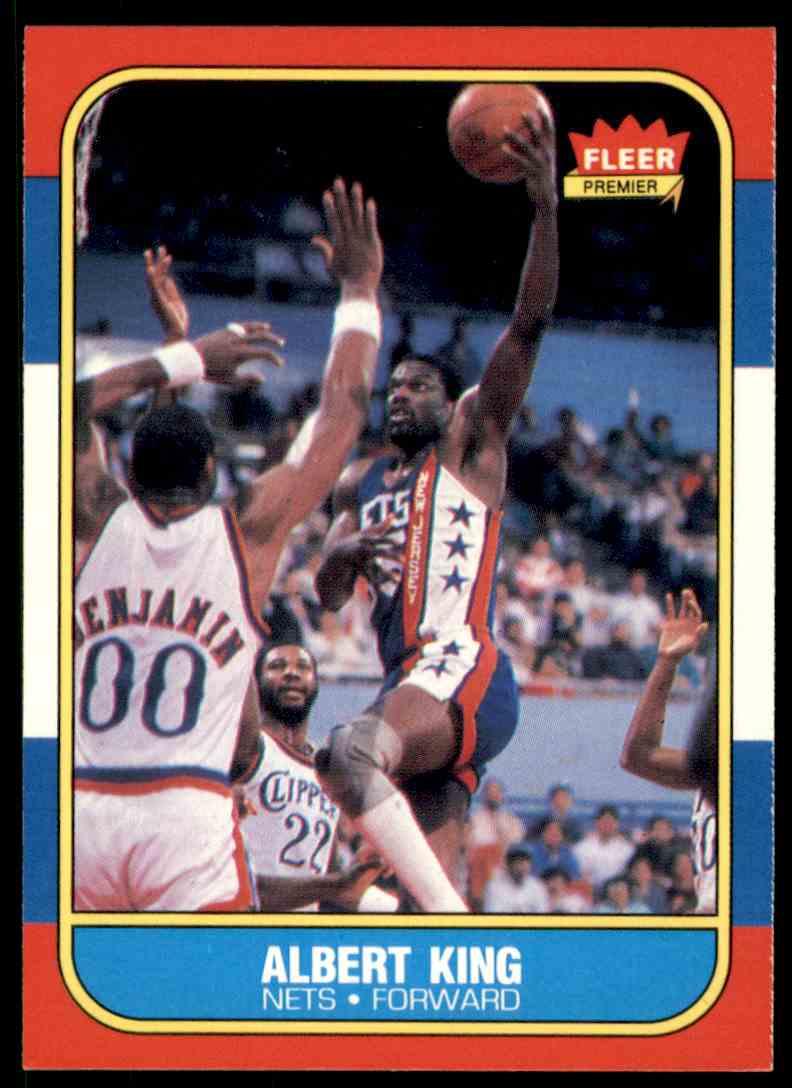 1986-87 Fleer Albert King-1 #59 OF 132 card front image