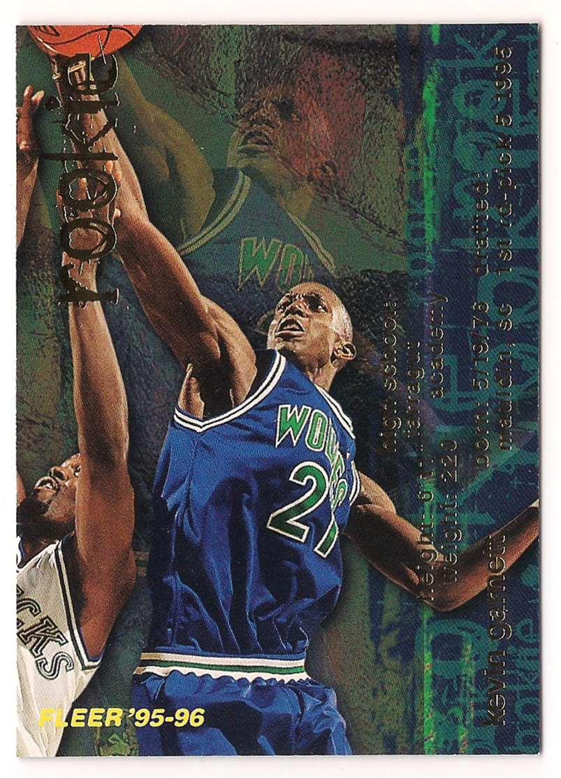 1995-96 Fleer Kevin Garnett #293 card front image