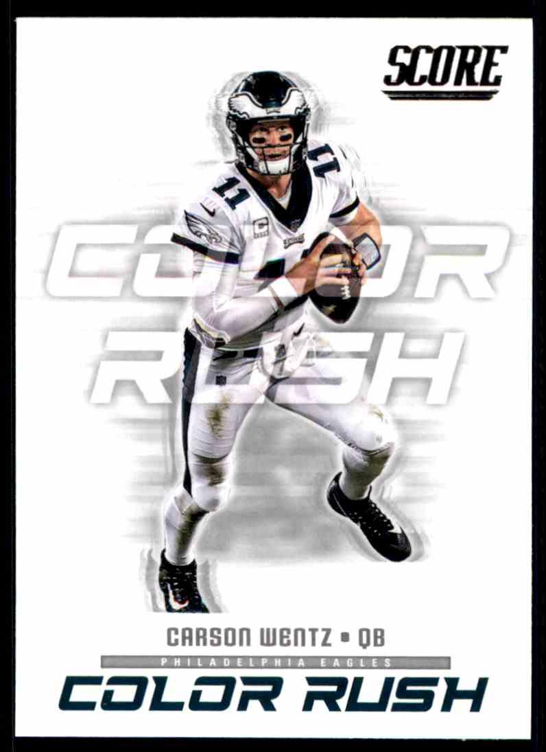 info for 761e5 20445 2018 Score Color Rush Carson Wentz #6 on Kronozio