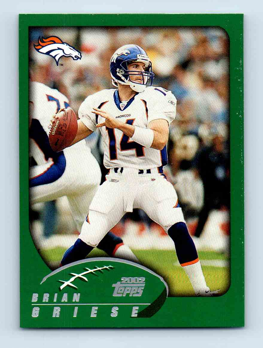 2002 Topps Brian Griese #81 card front image