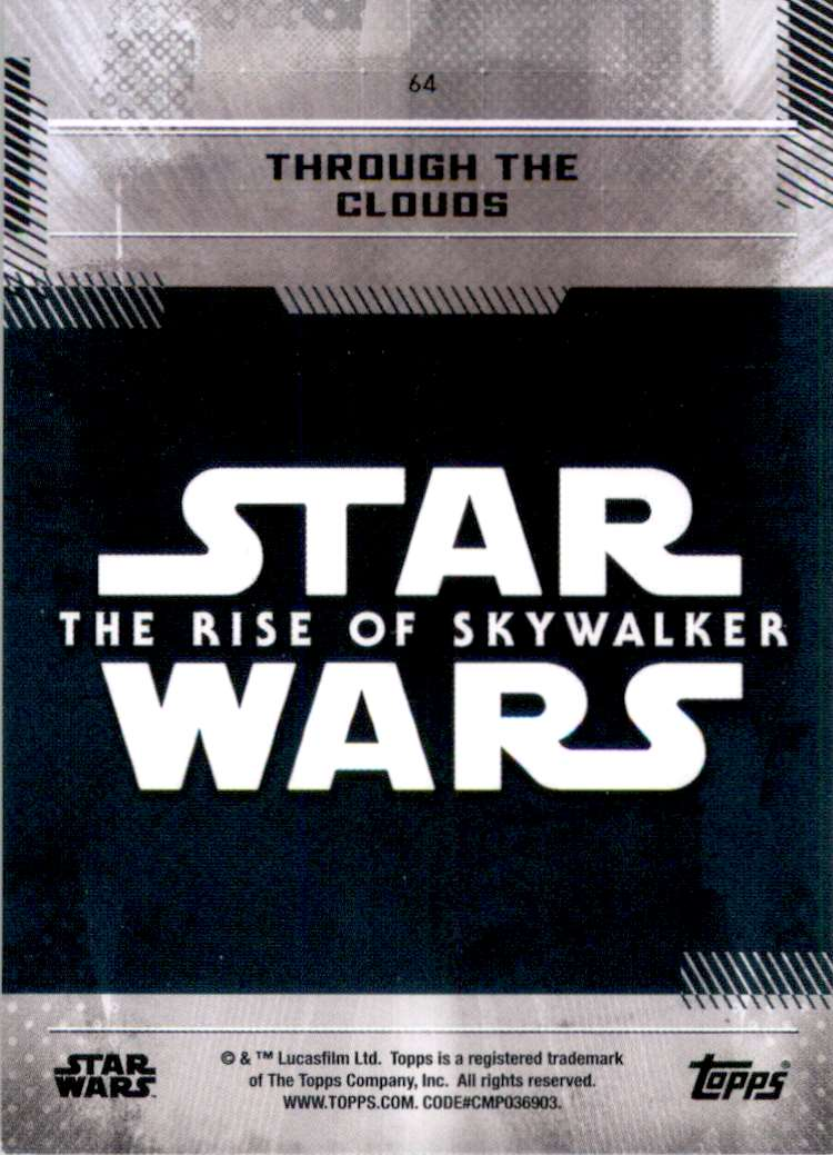 2019 Star Wars The Rise Of Skywalker Series One Through The Clouds #64 card back image