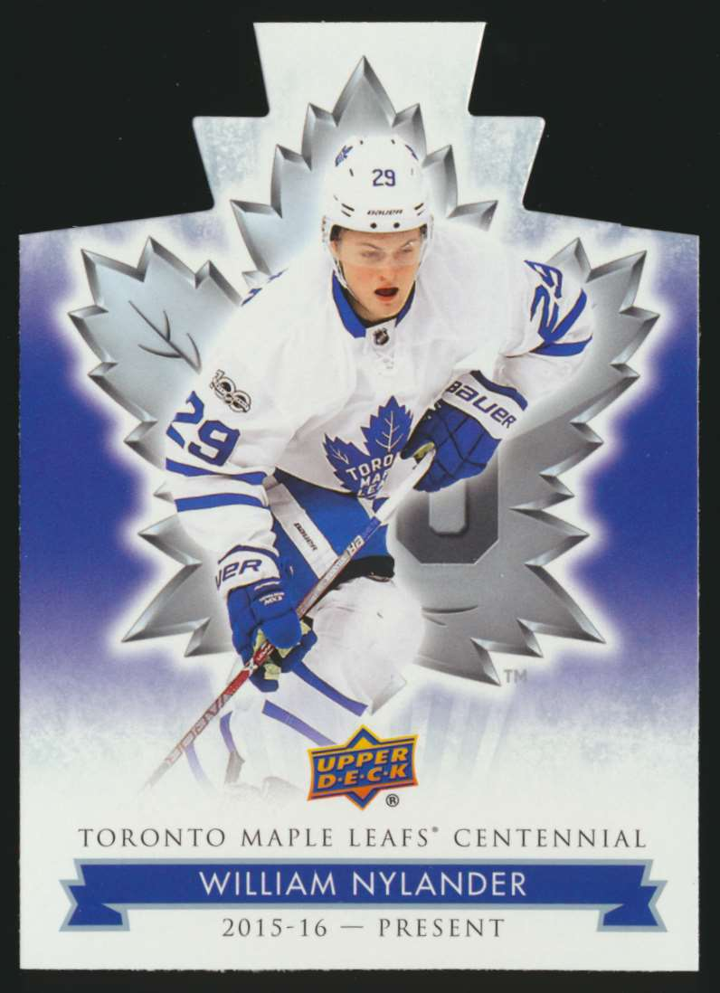 2017-18 UD Maple Leafs Centennial Die Cut William Nylander #89 card front image