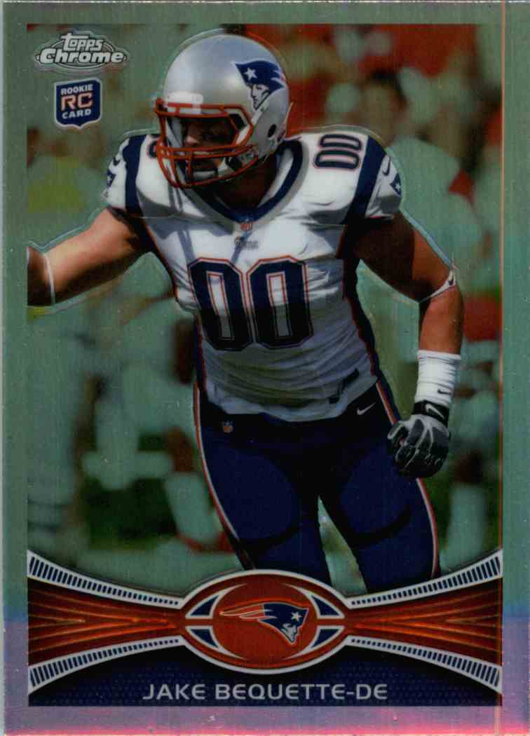 2012 Topps Chrome Jake Bequette #42 card front image