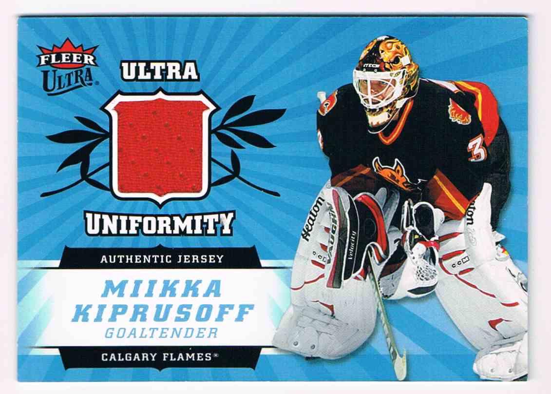 2006-07 Upper Deck Ultra Uniformity Mikka Kiprusoff #U-MK card front image