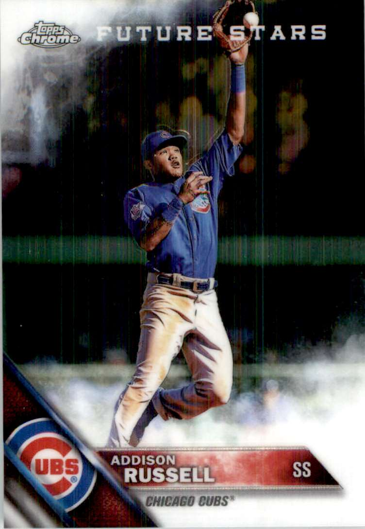 2016 Topps Chrome Future Stars Addison Russell #7 card front image