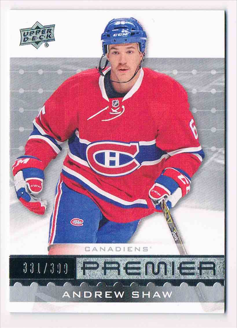 2016-17 Upper Deck Premier Andrew Shaw #26 card front image