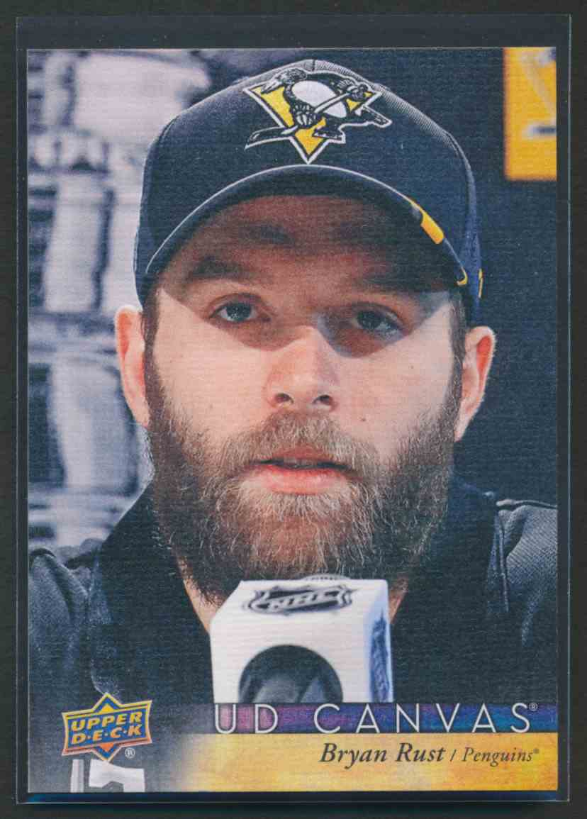 2017-18 Upper Deck Canvas Bryan Rust #C67 card front image
