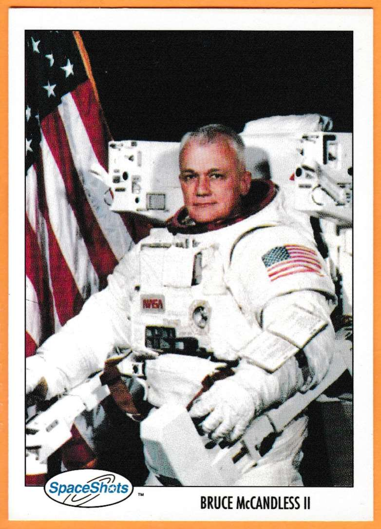 1991 Space Shots Space Trivia Challenge Bruce McCandless II #130 card front image