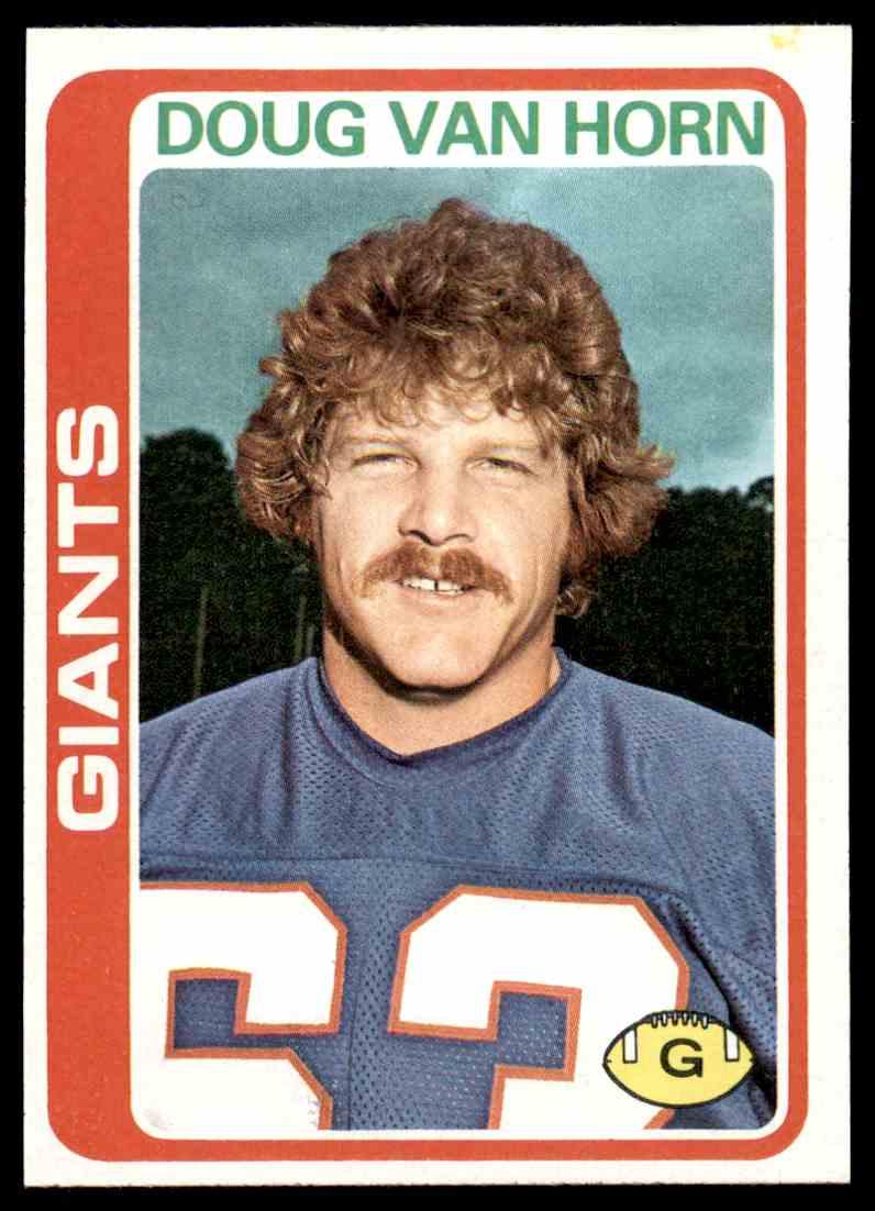 1978 Topps Football Doug Van Horn #372 card front image