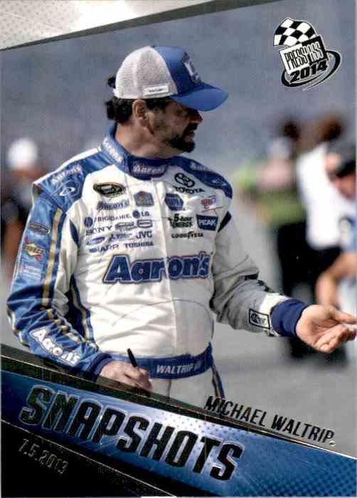 2014 Press Pass Michael Waltrip #92 card front image
