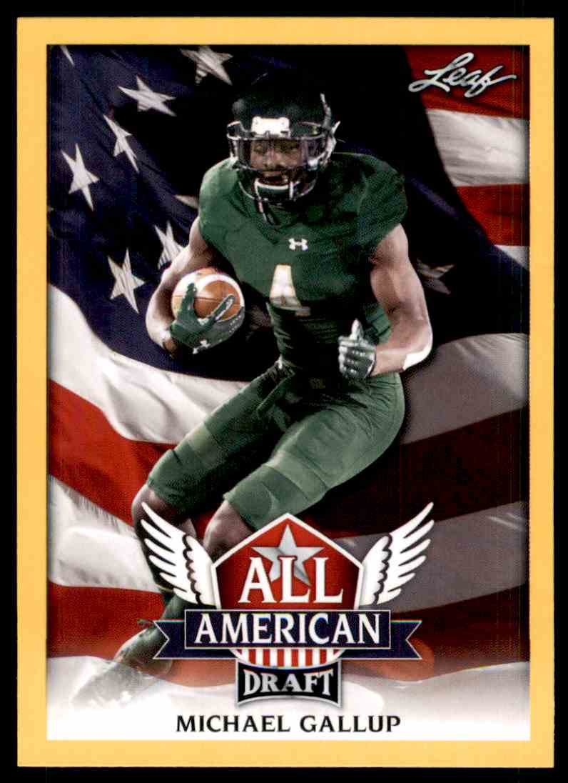 2018 Leaf Draft Michael Gallup #AA-09 card front image