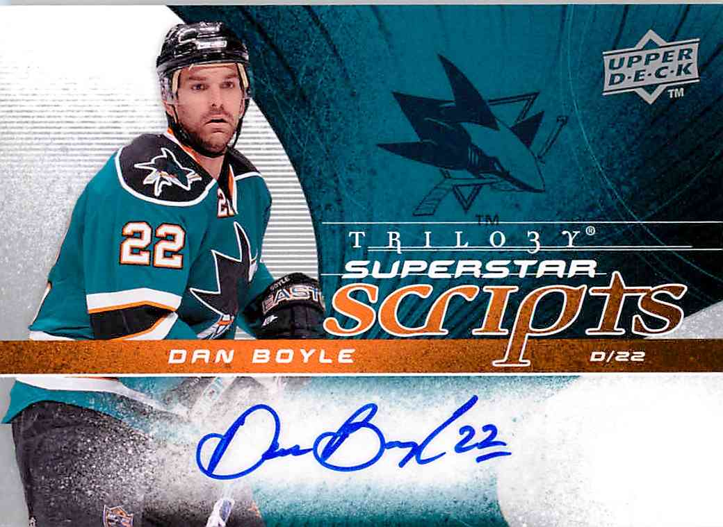 2008-09 Upper Deck Trilogy Dan Boyle #SS-DB card front image