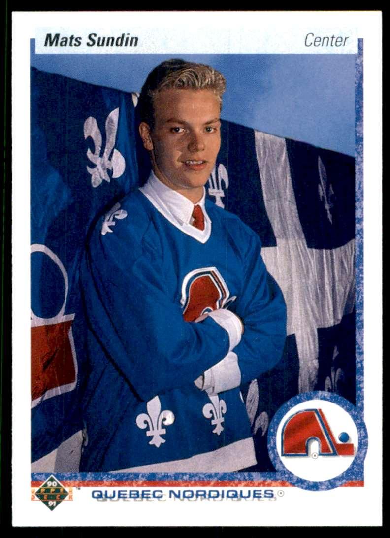 1990-91 Upper Deck Mats Sundin RC #365 card front image
