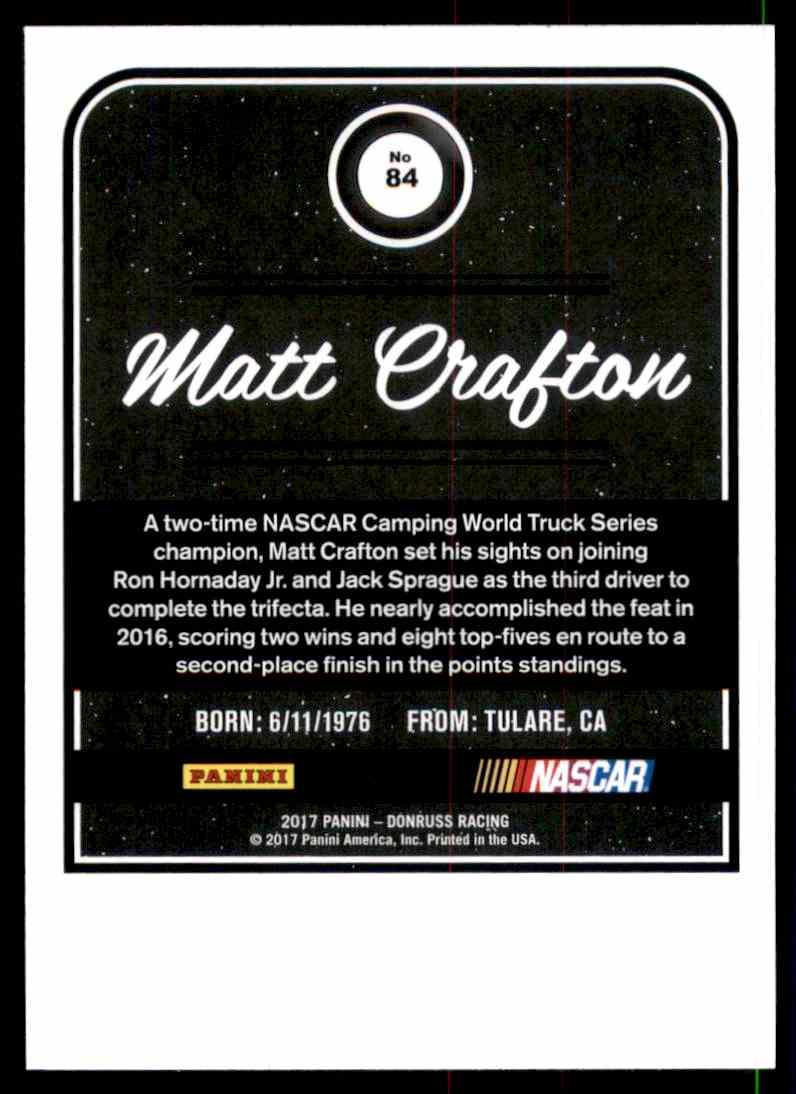 2017 Donruss Matt Crafton #84 card back image