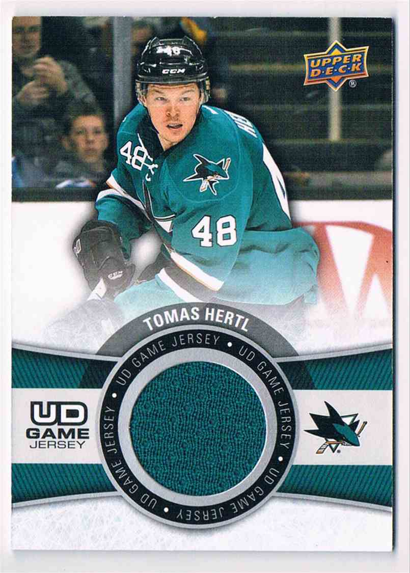 2015-16 Upper Deck Series One Tomas Hertl (B) #GJ-HE card front image