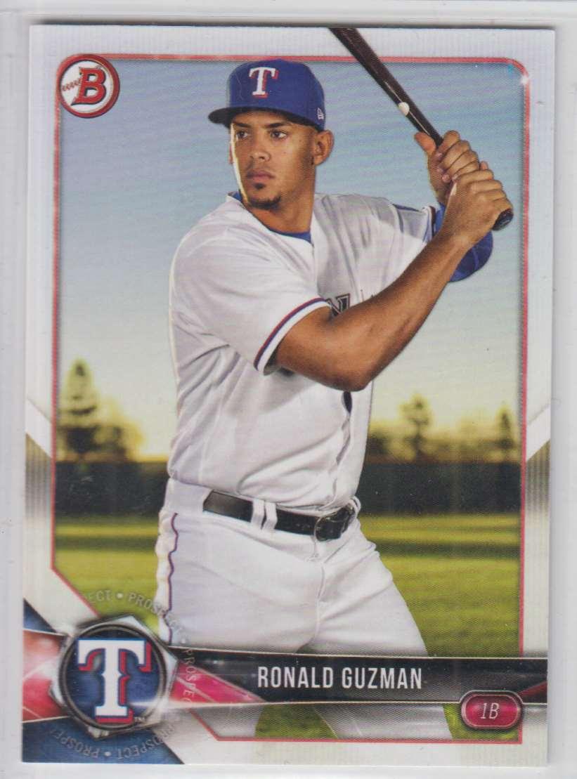 2018 Bowman Prospects Ronald Guzman #BP122 card front image
