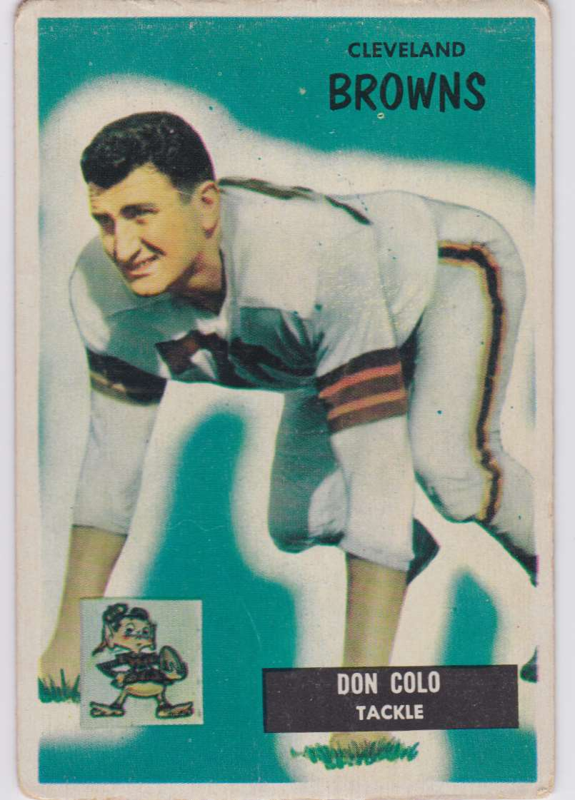 1955 Bowman Don Colo #159 card front image