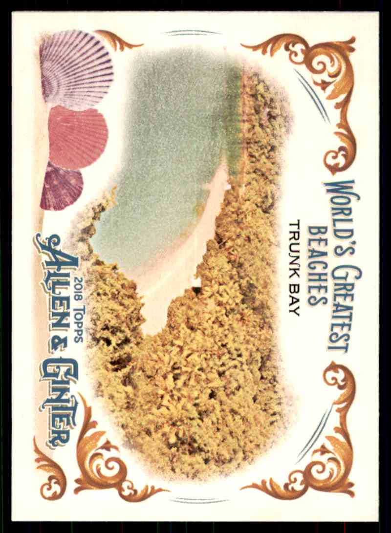 2018 Topps Allen & Ginter World's Greatest Beaches Trunk Bay #WGB-3 card front image