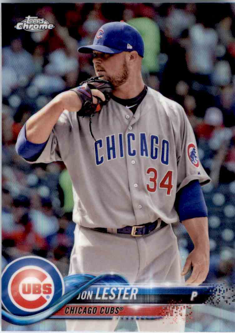 2018 Topps Chrome Refractor Jon Lester #191 card front image