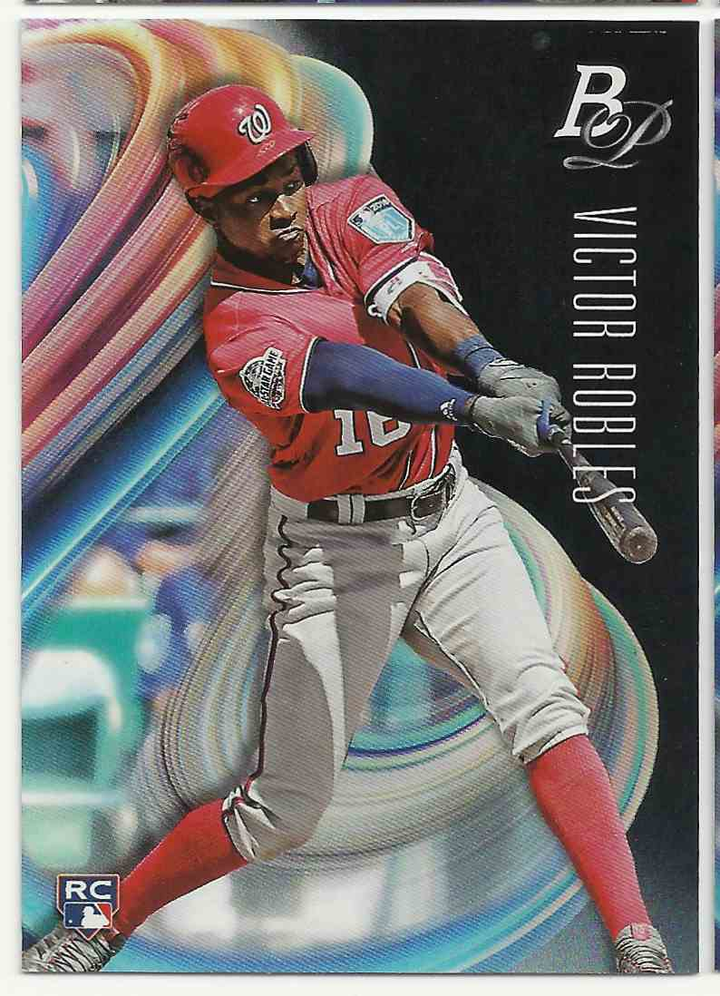 2018 Bowman Platinum Victor Robles #13 card front image