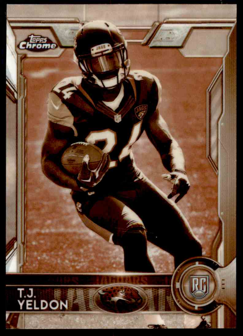2015 Topps Chrome Sepia Refractor T.J. Yeldon #138 card front image