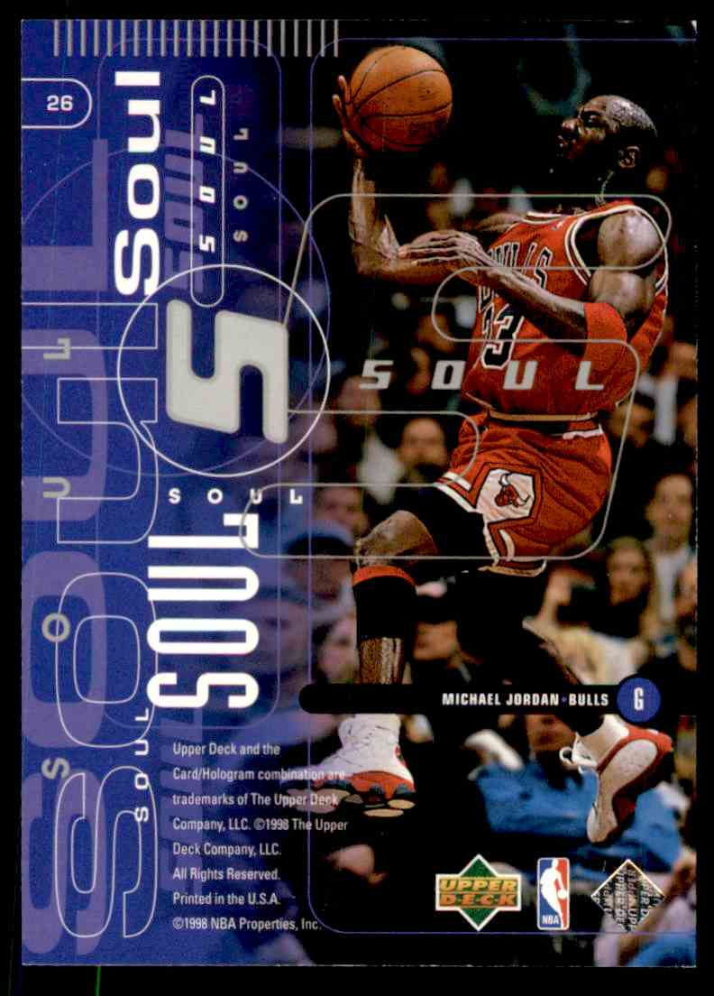1998-99 Upper Deck Michael Jordan #26 card back image