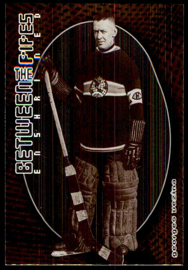 2001-02 ITG Between The Pipes Georges Vezina #132 card front image